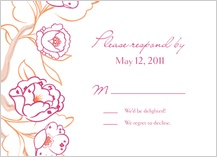 Response Card - blooming branches