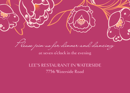 Reception Card - Blooming Branches