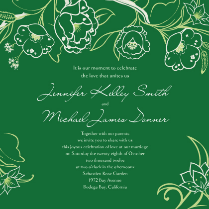 Wedding Invitation - Blooming Branches