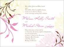 Wedding Invitation - summer dahlias
