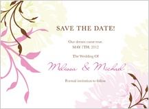 Save the Date Card - summer dahlias