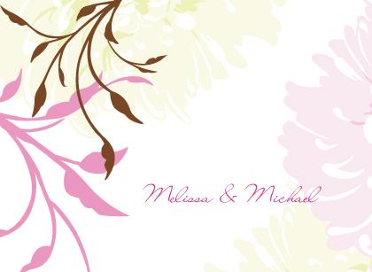 Wedding Thank You Card - Summer Dahlias