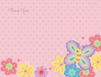 Baby Thank You Card - Bugs