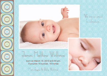 Birth Announcement with photo - Spark