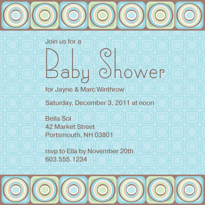 Baby Shower Invitation - Spark