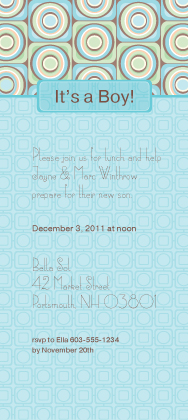 Baby Shower Invitation - Spark