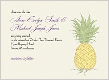 Save the Date Card - pineapple