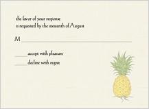 Response Card - pineapple
