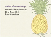 Reception Card - pineapple