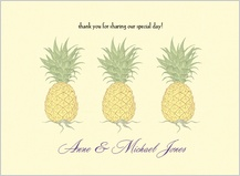 Wedding Thank You Card - pineapple