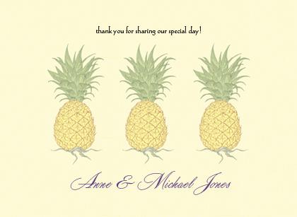 Wedding Thank You Card - Pineapple