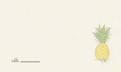 Place Card - Pineapple