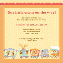 Baby Shower Invitation - circus