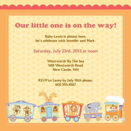 Circus Baby Shower Invitation Look Love Send