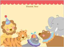 Baby Thank You Card - circus
