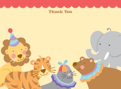 Baby Thank You Card - Circus