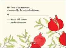 Response Card - pomegranates