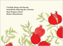 Reception Card - pomegranates