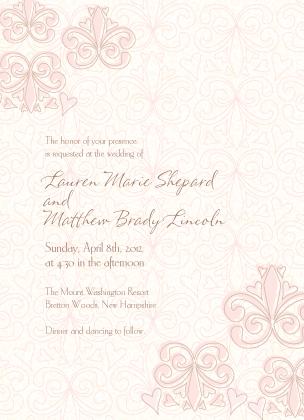 Wedding Invitation - Fleur De Lis