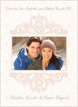 Save the Date Card with photo - fleur de lis