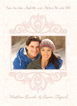 Save the Date Card with photo - Fleur De Lis