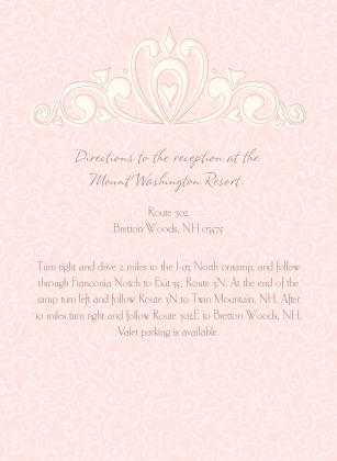 Reception Card - Fleur De Lis