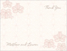 Wedding Thank You Card - fleur de lis