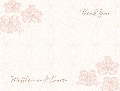Wedding Thank You Card - Fleur De Lis