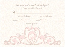 Response Card with menu options - fleur de lis