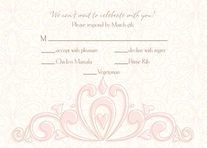 Response Card with menu options - Fleur De Lis