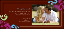 Save the Date Card with photo - cheer