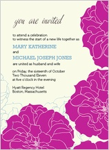 Wedding Invitation - stylized roses