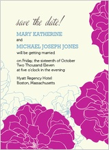 Save the Date Card - stylized roses
