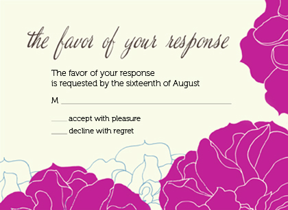 Response Card - Stylized Roses
