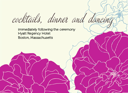 Reception Card - Stylized Roses