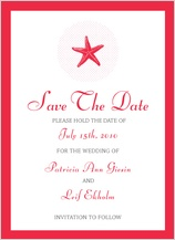 Save the Date Card - beach chic