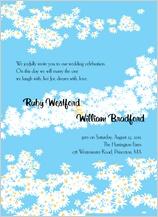 Wedding Invitation - flower field