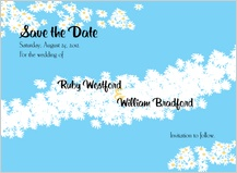Save the Date Card - flower field
