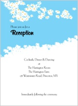 Reception Card - flower field