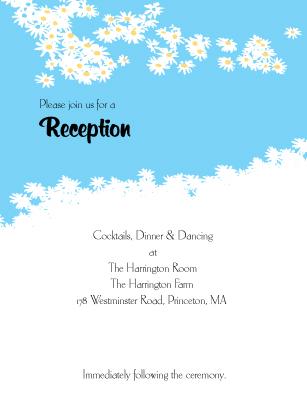 Reception Card - Flower Field