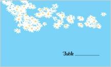 Place Card - flower field