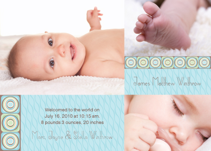 Birth Announcement with photo - Spark 2