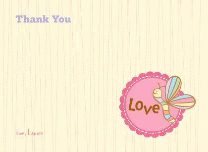 Baby Thank You Card - Cutie Pie