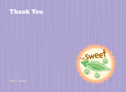 Baby Thank You Card - Cutie Pie