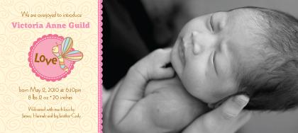 Birth Announcement with photo - Cutie Pie 2