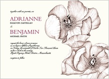 Wedding Invitation - paenia japonica