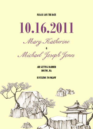 Save the Date Card - Chinoiserie