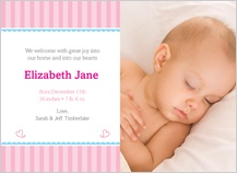 Birth Announcement with photo -  bundle of joy (baby girl)
