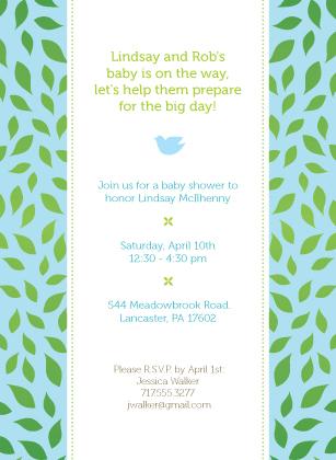 Baby Shower Invitation - Family Tree