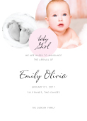 Birth Announcement with photo